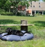Dog's Companion® Hondenkussen staalgrijs vuilafstotende coating superlarge
