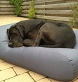 Dog's Companion® Hondenkussen staalgrijs vuilafstotende coating small