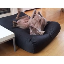 Hondenbed zwart vuilafstotende coating large