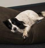 Dog's Companion® Hondenbed chocolade bruin ribcord extra small