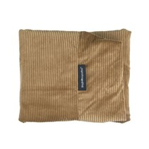 Hoes hondenbed camel ribcord extra small