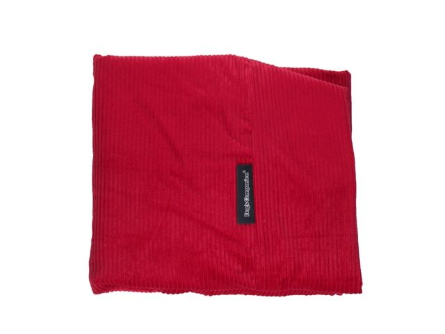 Dog's Companion® Hoes hondenbed rood ribcord superlarge