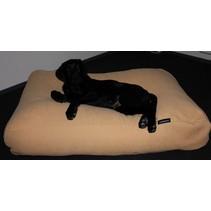 Hondenkussen maïsgeel meubelstof extra small