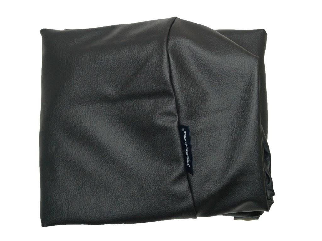 Dog's Companion® Hoes hondenbed zwart leather look small