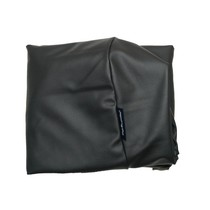 Hoes hondenbed zwart leather look medium