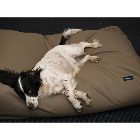 Dog's Companion® Hondenbed taupe leather look medium