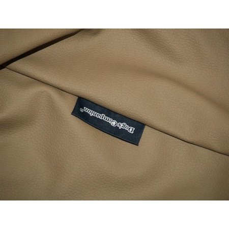 Dog's Companion® Hoes hondenbed taupe leather look large