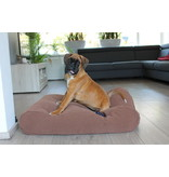 Dog's Companion® Hondenbed Mokka (chenille velours) Superlarge