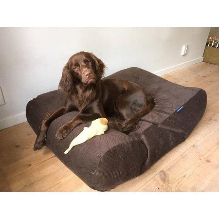Dog's Companion® Hoes hondenbed chocolade bruin ribcord medium