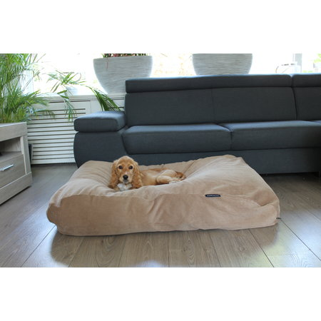 Dog's Companion® Hoes hondenbed camel ribcord small