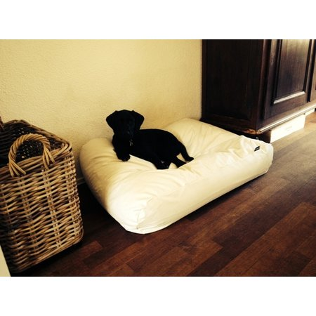 Dog's Companion® Hoes hondenbed ivory leather look superlarge