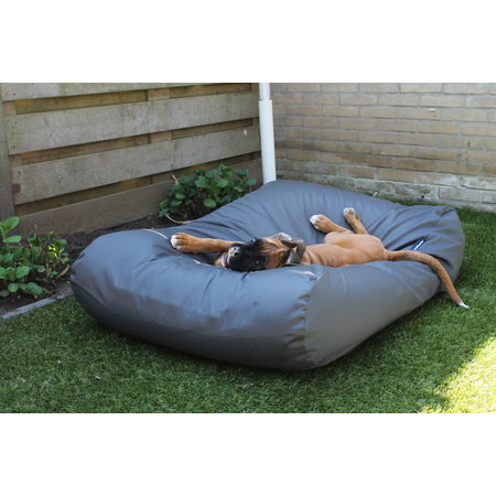 Dog's Companion® Hoes hondenbed charcoal vuilafstotende coating large