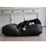 Dog's Companion® Hoes hondenbed chocolade bruin leather look medium