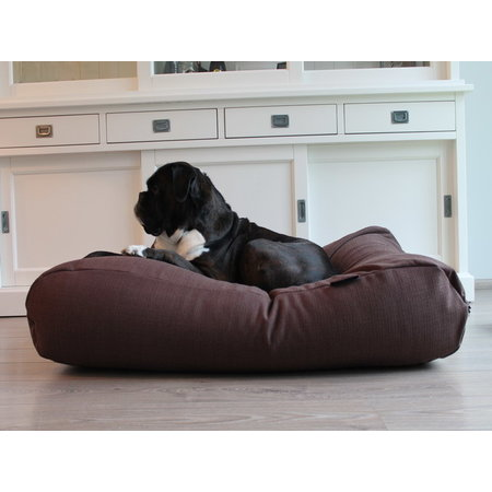 Dog's Companion® Hoes hondenbed chocolade bruin (meubelstof) Large