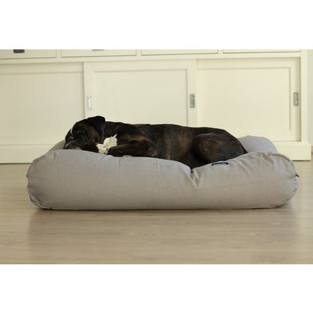 Dog's Companion® Hoes hondenbed grijs meubelstof Extra Small
