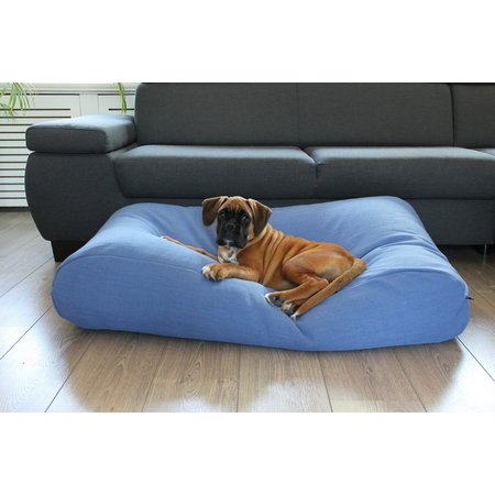 Dog's Companion® Hoes hondenbed manhattan blue linnen Large