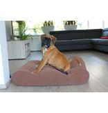Dog's Companion® Hoes hondenbed Mokka (chenille velours) Extra Small