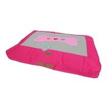Lief! hondenkussen lounge girls bot roze / beige
