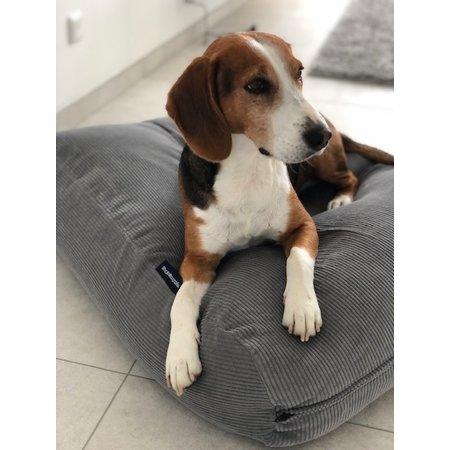 Dog's Companion® Hondenbed muisgrijs ribcord medium