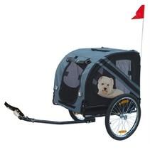 Karlie fietskar doggy liner economy grijs/zwart