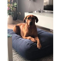 Hondenbed blauw ribcord large