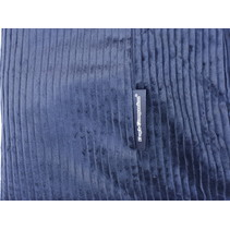 Hoes hondenbed blauw ribcord extra small