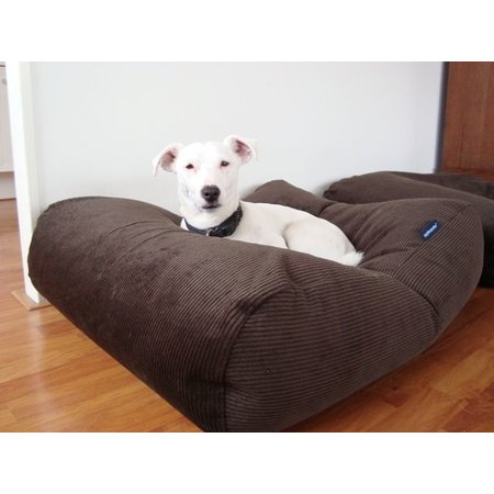 Dog's Companion® Hondenbed chocolade bruin ribcord