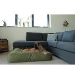 Dog's Companion® Hondenbed olijf groen vuilafstotende coating