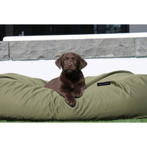 Hondenbed olijf groen vuilafstotende coating Large