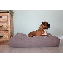 Hondenbed walnut linnen large
