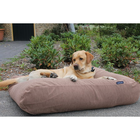 Dog's Companion® Hondenbed Taupe ribcord small