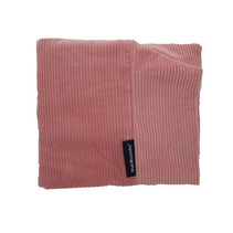 Hoes hondenbed Oud Roze ribcord