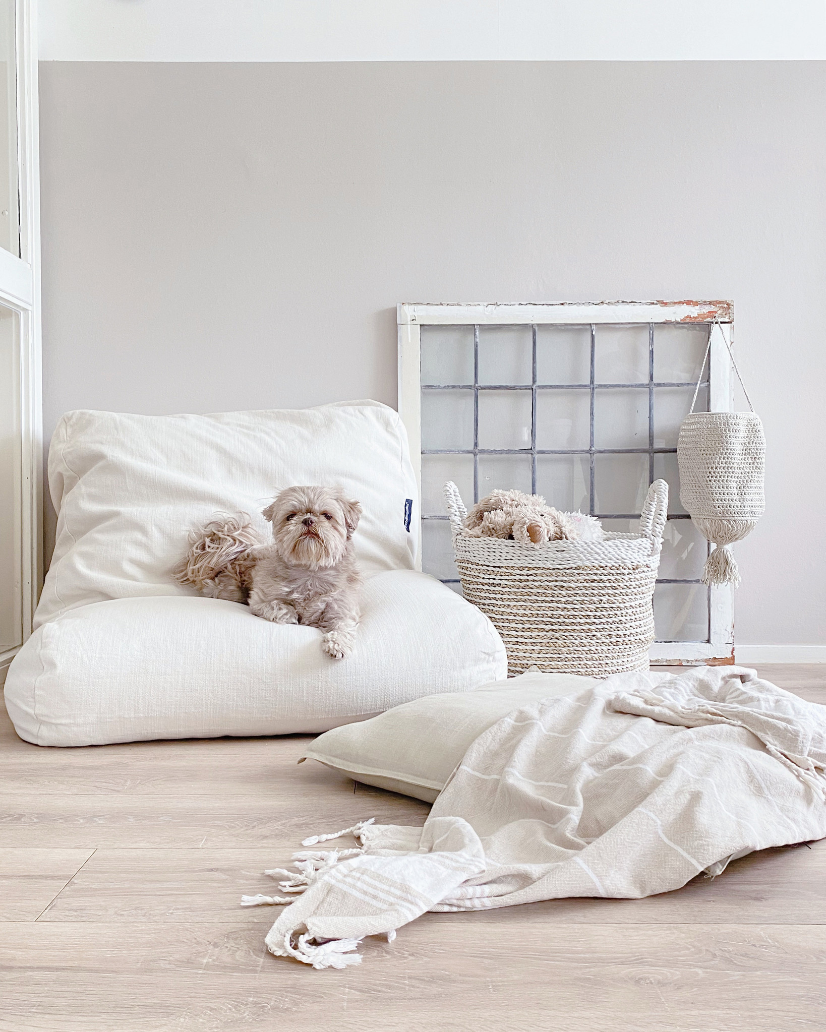 Dog's Companion® Hondenbed white sand