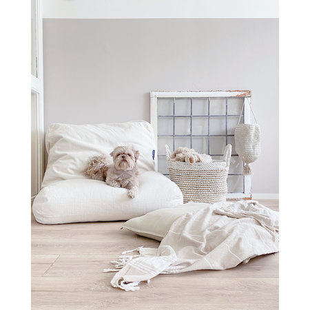 Dog's Companion® Hondenbed white sand small