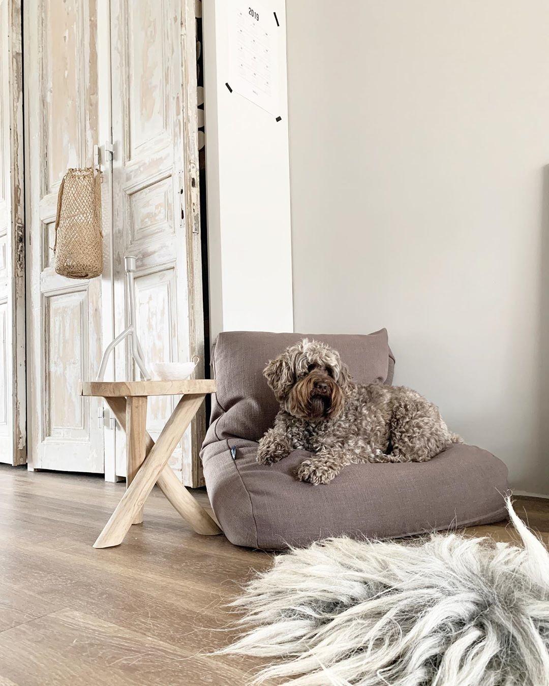 Dog's Companion® Hondenbed walnut linnen