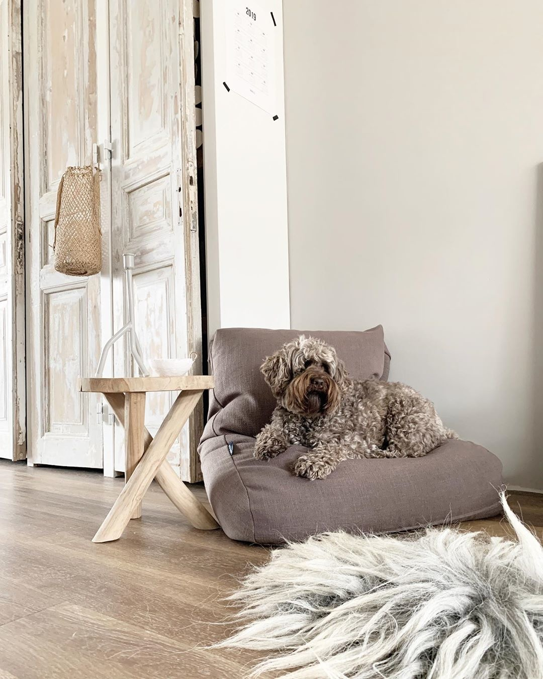 Dogs Companion® Hondenbed walnut linnen