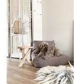 Dog's Companion® Hondenbed walnut linnen large