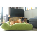 Dog's Companion® Hondenbed Appelgroen Ribcord small