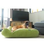 Dog's Companion® Hondenbed Appelgroen Ribcord superlarge