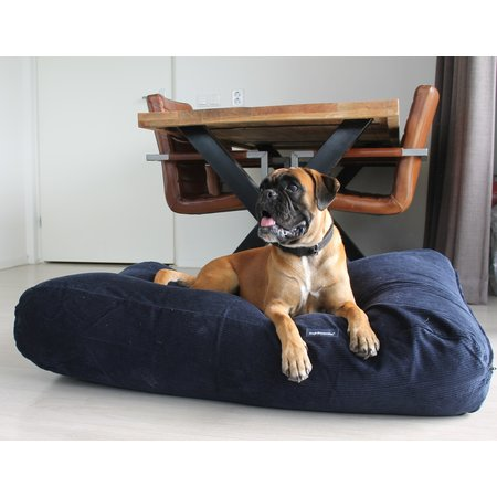 Dog's Companion® Hondenbed Donkerblauw Ribcord large