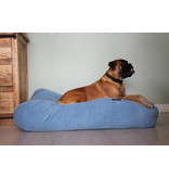 Dog's Companion® Hoes hondenbed Lichtblauw ribcord medium