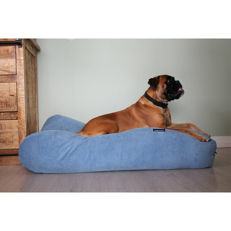 Dog's Companion® Hondenbed Lichtblauw Ribcord medium
