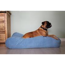 Hondenbed Lichtblauw Ribcord superlarge