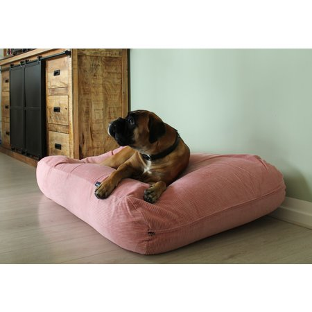 Dog's Companion® Hoes hondenbed Oud Roze ribcord superlarge