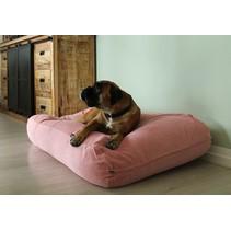 Hondenbed Oud Roze Ribcord  medium