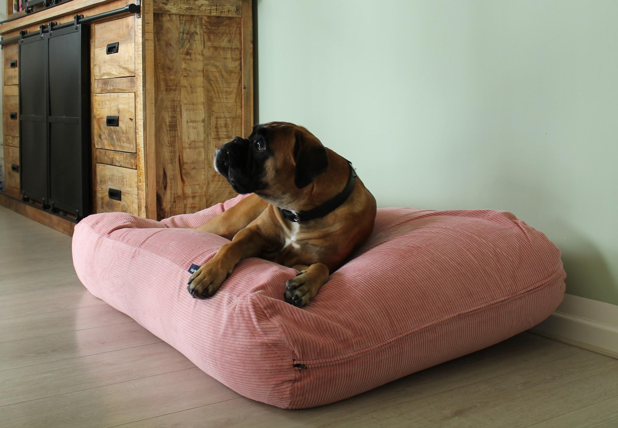 Dog's Companion® Hondenbed Oud Roze Ribcord  medium