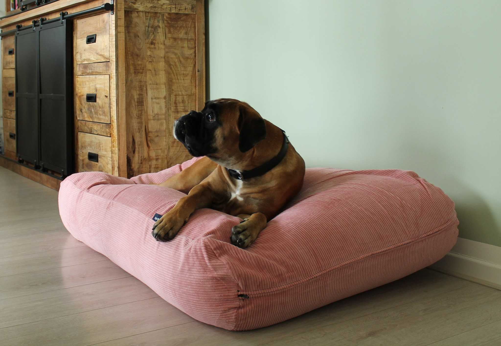 Dog's Companion® Hondenbed Oud Roze Ribcord large