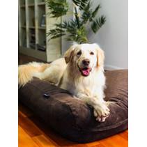 Hondenkussen chocolade bruin ribcord