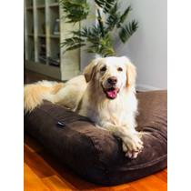 Hondenbed chocolade bruin ribcord small