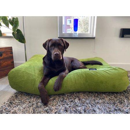 Dog's Companion® Hondenbed Appelgroen Ribcord medium